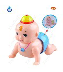 Tiny Deal Super Lovely Crawling Baby With Sound And Light