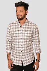 Casual Threads Men White/Black Check Shirt