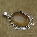 925 sterling silver handmade jewelry tiger eye gemstone new pendant