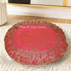 Jacquard Silk Couch Round Seating Floor Cushion