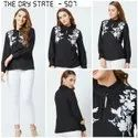 Black Embroidered Ladies Top