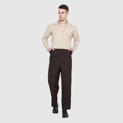 UB-BRO-DUND-0016 Brown and Beige Dungaree Cover All