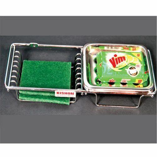 Steel Dishwasher Soap Holder