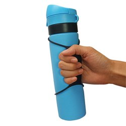 Silicone Foldable Water Bottles, Capacity: 500 mL