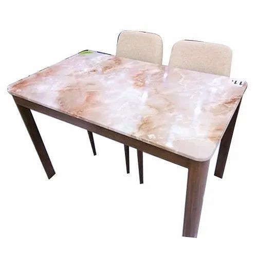 4 Seater Marble Top Wooden Dining Table Set Size 4x3 Feet Rs 8500 Set Id 22401779112
