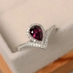 Pink  Gemstone Diamond Ring