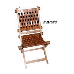 Stylish Wooden Folding Chair, Height: 18 inch