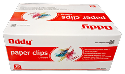 Oddy Paper Clips Colored - Vinyl Coated