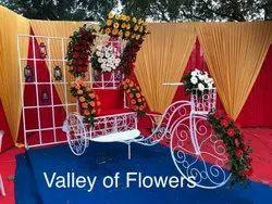 White Iron Decorative Rickshaw, For Wedding Decorations