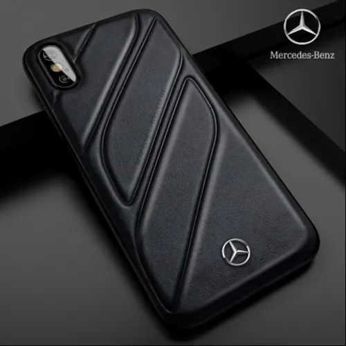 info for 81a08 6d55b Black Mercedes Benz IPhone XS Max CLA-CLASS Raven Leather Back Cover ...