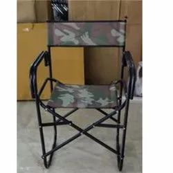 Black Mild Steel Quick Portable Folding Chair