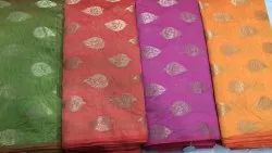 BLS Fabrics Bls081 Cotton Chanderi Dress Material, For Clothing Purpose