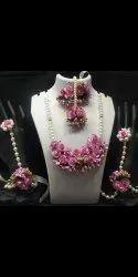Multicolor Haldi Jewellery Set For Engagement Ceremony