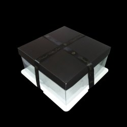 6 Inch Black Crystal Boxes
