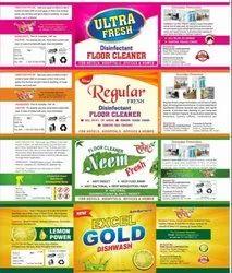 Globr White Phenyl Sticker for Advertising, Packaging Type: Packet