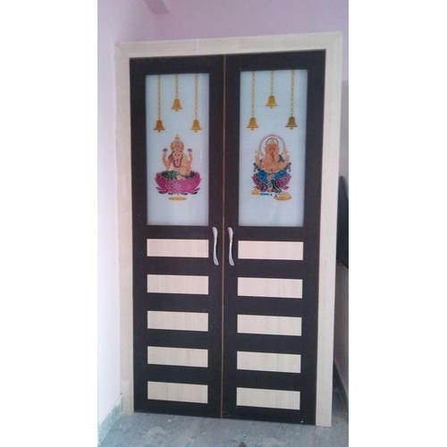 Glass Pooja Room Door Rs 30000 Unit Shiva Sai Wooden Furnitures