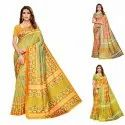 PRINTED SANA SILK  SAREE