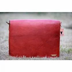 Goat Leather Brown Full Flap Messenger Bags