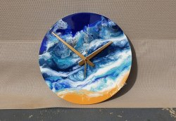 Epoxy Resin Wooden Wall Clock