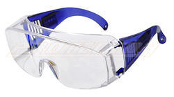 ES-007 Clear Karam Goggles Over Specs