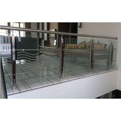 SS With Glass Railing