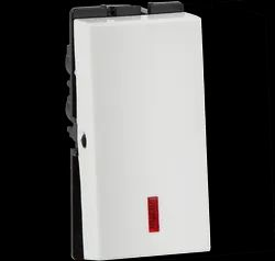 White Havells 10AX 1 Way With Ind Electrical Switch