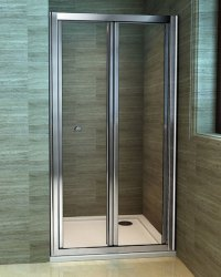 Silver Aluminum Bathroom Door