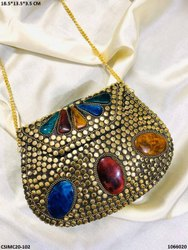 Exclusive Designer Metal Mosaic Clutches