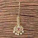 Rubygreen Brass Cz Gold Plated Classic Tikka 407154