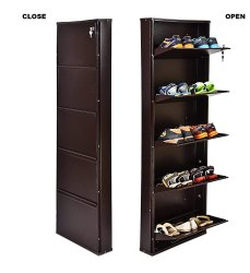 5 Shelf Wall Mounted Shoe Rack