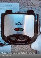 Inox Novella Sandwich Frill Toaster, Number Of Slices: 2