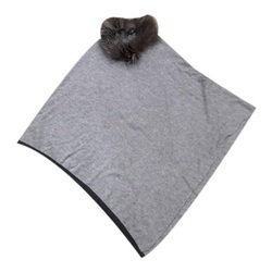 Knitted Poncho Silver Fox Fur Scarves