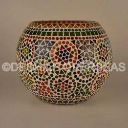 Mosaic Long Flower Vase