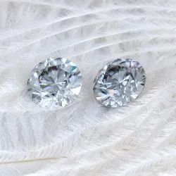 Grey Color Round Brilliant Cut Loose Moissanite, Packaging Type: Box