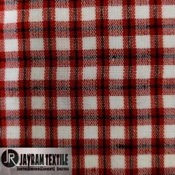 Red And Black Uniform Check Fabric