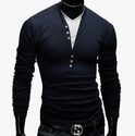 Men''s Navy Blue Full Sleeve T-Shirt