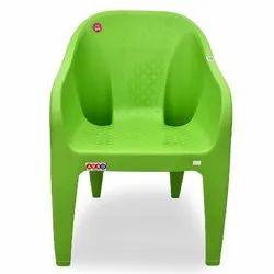 Avro 9100 Green Molded Plastic Arm Chair, Weight: 2.3 Kg