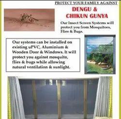 Almmunium Hinged Pull Down Mosquito Net Window