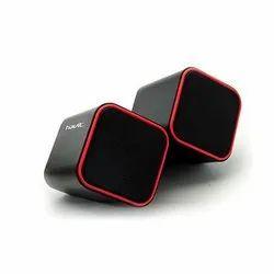Black Wired Havit HV-SK473 2.0 Channel USB Multimedia PC Speakers