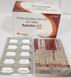 Ferrous Ascorbate 100mg Folic Acid 1.5mg Zinc 22.5mg Tablet