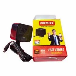 Premixx Ultra Fast Mobile Charger, Ampere: 3amp