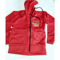 Kids Woolen Hooded Jacket
