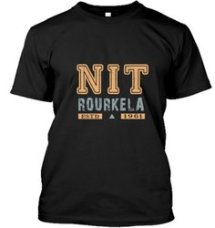 Black Round Neck Promotional T - Shirt