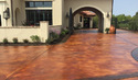 Acid Stained Driveway Service