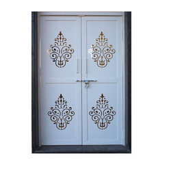 Galvanized Laser Cutting Steel Designer Door