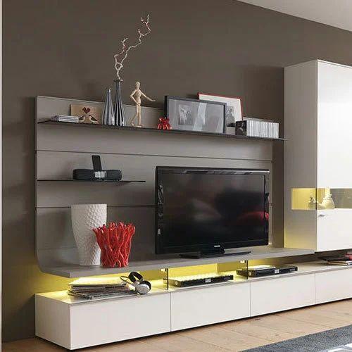 White Modern Designer Tv Unit Rs 500 Square Feet Q Rich Interior Id 14864350062