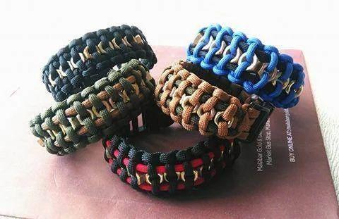 Paracord Hexnut Survival Bracelet