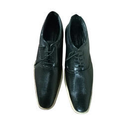 Leather Formal Mens Black Casual Shoes, Size: 5_11