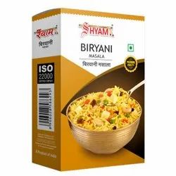 Shyam Dhani Biryani Masala, Packaging Size: 100 g, Packaging Type: Box