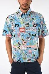 Men's Collar Neck Casual Wear Trendy Shirt, Size: S-XL
